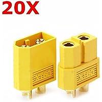 20 Pair XT60 Male Female Bullet Connectors Plugs For RC Battery