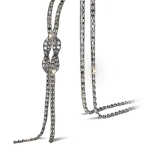 Suyi Trendy Crystal Long Necklace All-Match Style Shining Clothing Sweater Chain - Necklace Long Trendy