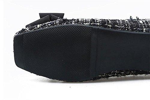 Scarpe dolce piatte basse fiocco da 1 quadrate scarpe MEILI con donna dUPZwxY