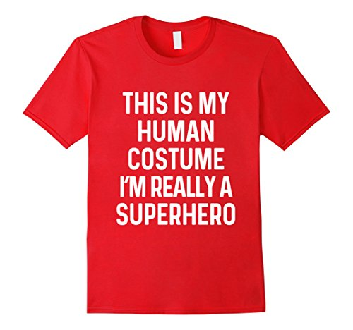 Mens Funny Superhero Costume Shirt Halloween Kids Adult Men Women 3XL (Funny Adult Halloween Costumes Ideas)