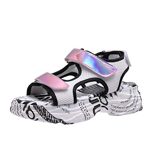 coolBao Women Sport Sandals Strappy Velcro Outdoor Hiking Athletic Breathable Shoes Lightweight Comfortable Pink (3cb 3 Light)