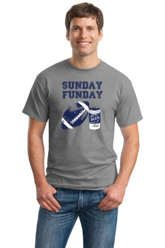 SUNDAY FUNDAY Unisex T-shirt / Fantasy Football NFL Beer and Sports Fan Tee