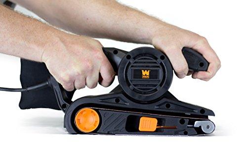 wen 6321 7amp 3 in x 21 in corded belt sander with dust