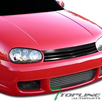ck Horizontal Front Hood Bumper Grill Grille ABS For 99-06 Volkswagen Golf/GTI / R32 MK4 ()