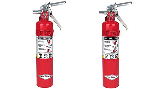Amerex B417, 2.5lb ABC Dry Chemical Class A B C Fire Extinguisher, with Wall Bracket (2-PACK) by Amerex