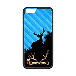Browning Deer Camo Pattern for iPhone 6 Case Cover 025265 Rubber Sides Shockproof Protection with Laser Technology Printing Matte Result