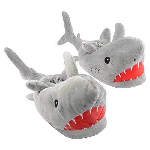 Shark Slippers Adult Grey -