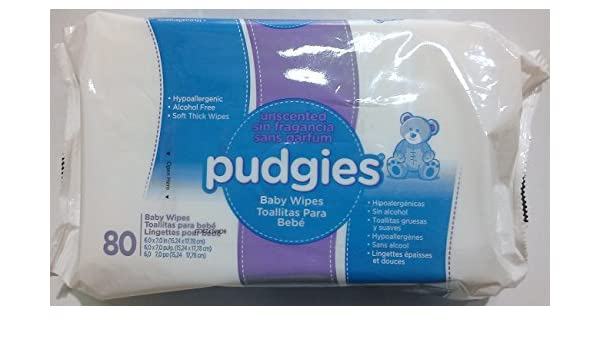 Amazon.com: Nice Pak Pudgies UnScented Baby Wipe - 80 per pack: Kitchen & Dining
