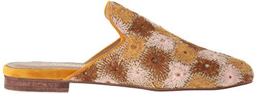 KAANAS Women's Salento Embroidered Flat Slide Shoe Mule Granola 6uSNHOx9u
