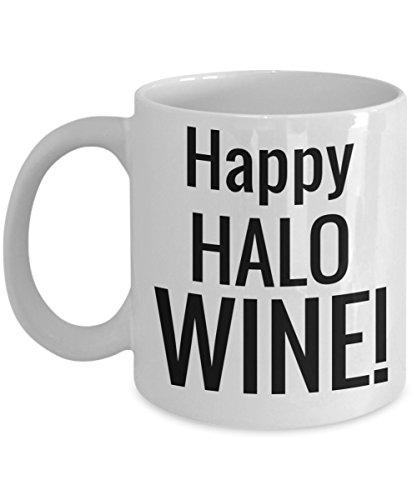 Halloween Coffee Wine Mug White Ceramic Coffee Mug Halloween 2017 For Adults Fun Holiday Gift Jar For Cookies Chocolate & Pen Holder]()