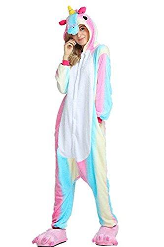 Animal Cosplay Costume Unicorn Onesie Unisex Adult Pajamas H