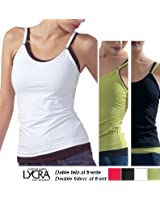 Microfiber Shapely Spaghetti Tank Top - Adjustable Straps & Double Fabric Front - Wear it alone or layer it!