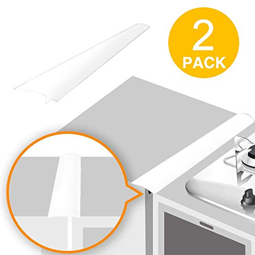 TOROTON Silicone Stove Counter Gap Cover, Seals Spills Between Counter, Stovetop, Oven, Washer & Dryer, Set of 2-21 inches ()