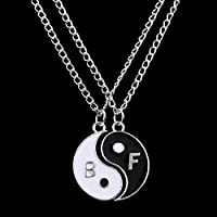 Honeshop Heart Best Friend Crystal Animal Necklace Pendant Jewelry Friendship BFF Gift 2PC Yin Yang B F