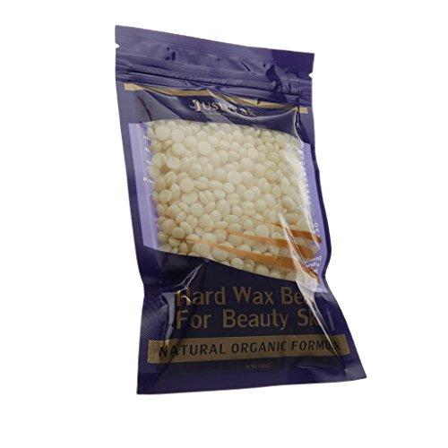 Homyl Hard Hot Film Wax Beans Hair Removal Bikini Body Leg Arm Armpit Depilatory Beads 100g/ Bag Lavender Tea Coffee Strawberry Chamomile Aloe - Cream