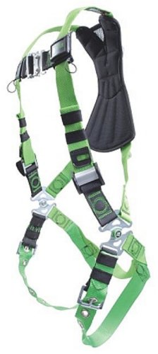 (Miller RPYFD-QC/UGN Revolution Harness with Python Webbing, Front D-Ring and Quick-Connect Leg Buckles, Universal Size (Large/XL), Green)