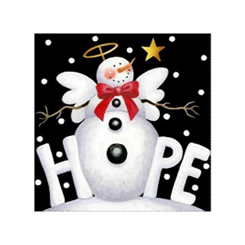 Simdoc Snowman Hope 5D Full Diamond Embroidery Painting DIY Handmade Rhinestone Embroidery Cross-Stitching Set for Xmas Home Decor Art Craft Gift (Hope Snowman)