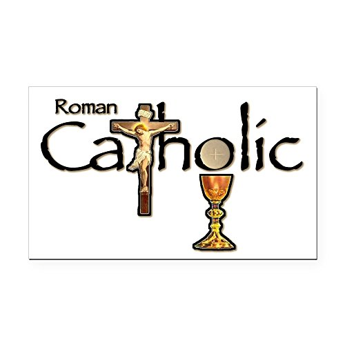- CafePress - Proud to be Catholic Rectangle Car Magnet - Rectangle Car Magnet, Magnetic Bumper Sticker
