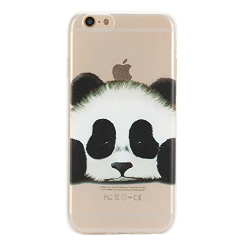 "Crisant Niedlicher Tierpanda Drucken Design weich Silikon TPU schutzhülle Hülle für Apple iPhone 6 Plus / 6S Plus 5.5"" (5,5''),Premium Handy Tasche Schutz Case Cover Ultra thin transparent Crystal Bum"