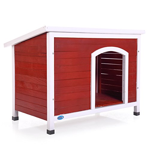 Tobbi Dog House XL Pet Outdoor Large Weather All Durable Shelter Kennel Doghouse Wood