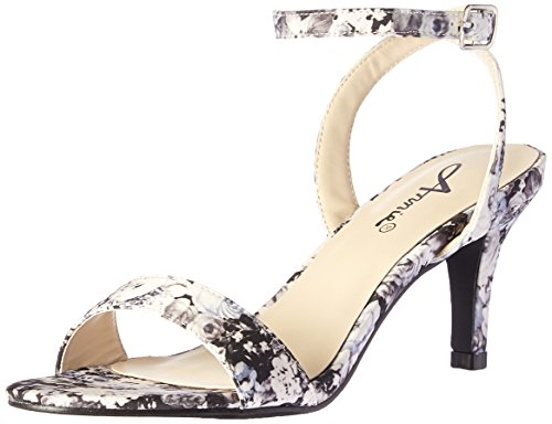 Black Sandal Annie Floral Shoes Lutrec Women wqWp4I