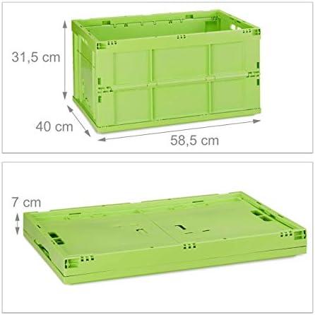 Stapelbox Klappbox Kunststoff 4 x Transportbox grau Spielzeugkiste geschlossen