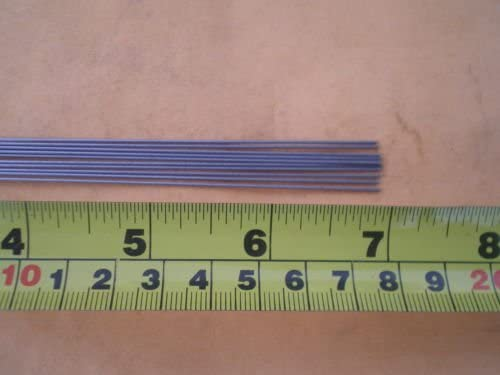 """75 STAINLESS STEEL STRAIGHT LURE SHAFT WIRE FORM 0.039 X 10/"""" INCHES LONG"""
