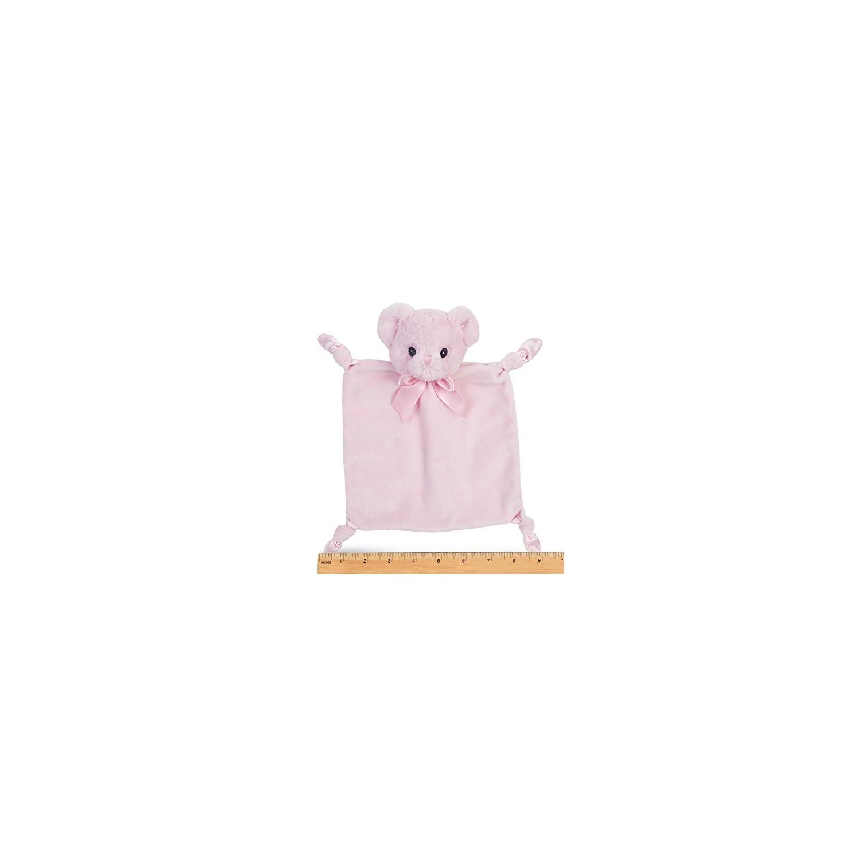 Bearington Baby Wee Huggie Bear, Small Pink Teddy Bear Stuffed Animal Lovey Security Blanket, 8″ x 7″