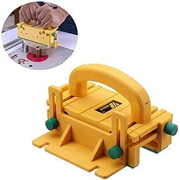 Sierra de mesa de seguridad 3D, bloque de madera, gancho de empuje ...