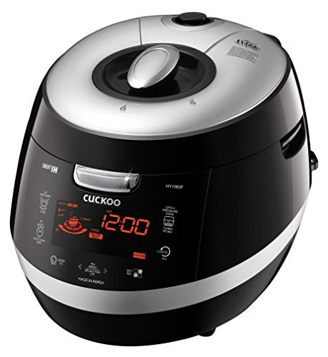 Cuckoo CRP-HY1083F 10 Cup Pressure Rice Cooker, 110V, Black