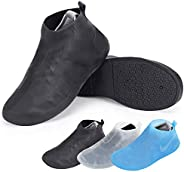 ComfiTime Waterproof Shoe Covers - Shoe Covers for Rain, TPE Rubber Material Stronger Than Silicone, Non-Slip,