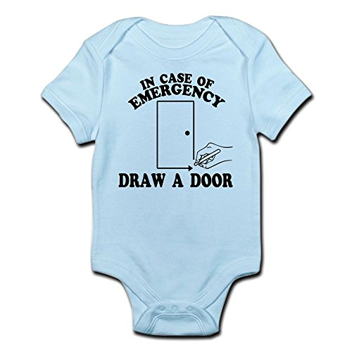 CafePress Draw A Door Beetlejuice Infant Bodysuit Cute Infant Bodysuit Baby Romper