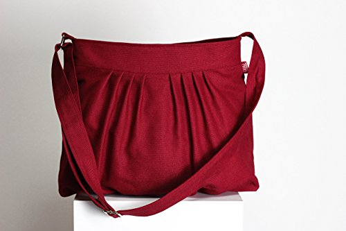 Choose Your Color Claret Red Maroon Canvas Bag Purse Pleated Bag Washable & Durable For Women Gift Daily Use Tote Handbag Bags Gift idea Different Colors are Available Hippirhino - Pleated Handbag Purse
