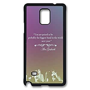 Fashionable Band 5SOS 5 Second of Summer DIY Design Printed Protective Hard Case Cover for Samsung Galaxy Note 4 - One Piece Back Case Shell Black 022708