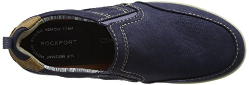 Rockport Gryffen Mudguard Slip On, Mocasines Hombre Azul (Navy Canvas)