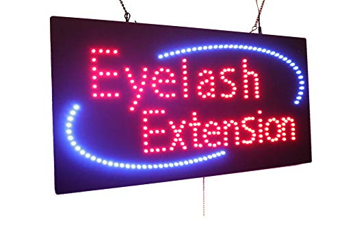 Open Service Sign Led (Eyelash Extension Sign, Super Bright High Quality LED Open Sign, Store Sign, Business Sign, Windows Sign, LED Neon Sign)