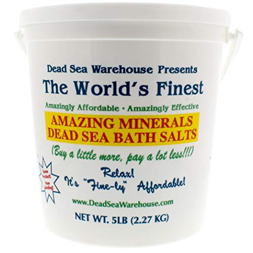 Dead Sea Warehouse - Amazing Minerals Dead Sea Bath Salts, Temporary Relief From Dry Itchy Skin, Aches and Pains, Exfoliates and Moisturizes, 100% Full Mineral (5 Pounds) (The Best Bath Salts)