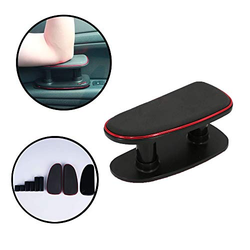 (OKAWADACH Car Armrest Memory Foam Soft Rest Pads Central and Side Adjustable Height with a Gel Pad (Red))