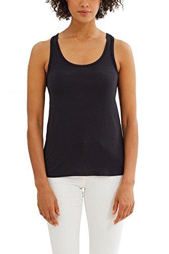 edc by Esprit, Camiseta sin Mangas para Mujer Negro (Black)