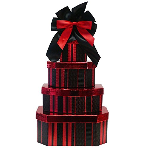 Deluxe Indulgence All Chocolate Gift Tower (Ice Packaging) (Review Gift Food Baskets Christmas)