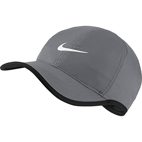 Nike AeroBill Featherlight Cap, Grey/White, Misc (Nike Bicycle Shorts)