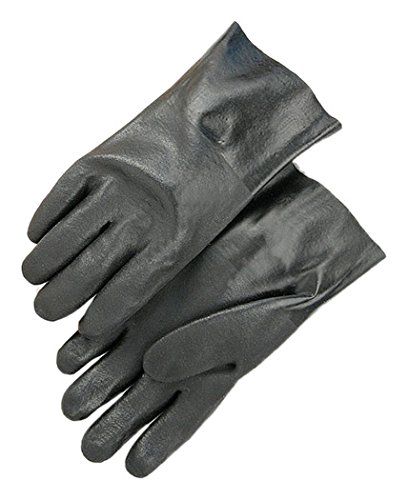 PVC Dipped Black Pack of 12 Majestic Glove 3358 Glove Sand Finish 11