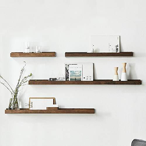 Teerwere Floating Shelf Wall Mount Modern Wood Floating Wall Shelf Decor Floating Shelves Wall Mounted Set of 4 Hanging…