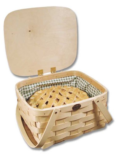 "Peterboro Pie/Cake Carrier with Mint Green ""Wipeout"" Liner made in New England"