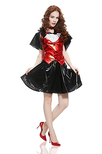 [Adult Women Sexy Vampiress Halloween Costume Dracula Bride Dress Up & Role Play (Small/Medium, white, black and] (Cheap Sexy Halloween Costumes Ideas)
