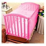 KIDDALE Adjustable Baby Crib Mosquito Net- Can Also be Used in Cot, Cradle with Breathable Fabric Mesh,Eco-Friendly…