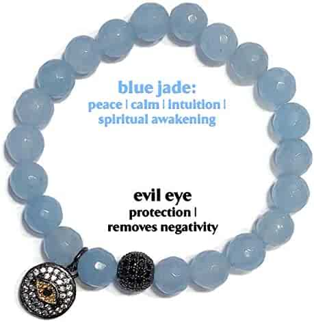 5f74a21932575 KarmaArm Evil Eye Charm Bracelets Stretch Reiki Healing Energy Beaded  Jewelry