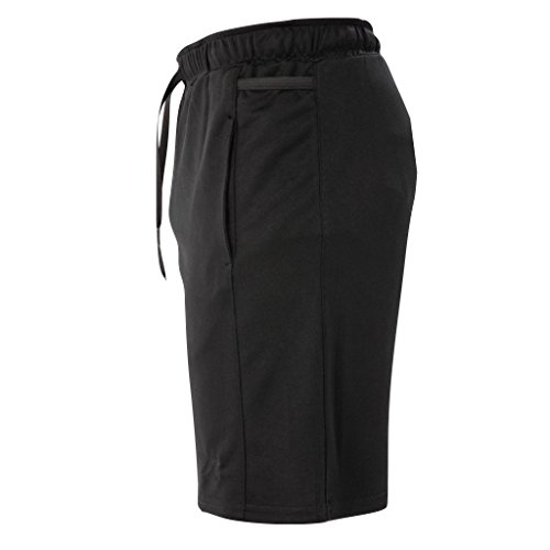 Kippo 4-Pocket Shorts | Running Shorts With Phone Pockets (Large, Black w/Black - No Liner Shorts Running