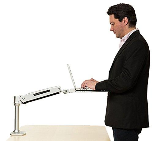 Cheap InMovement Elevate Desktop Adjustable Height Standing Desk, 18″, Black/Silver