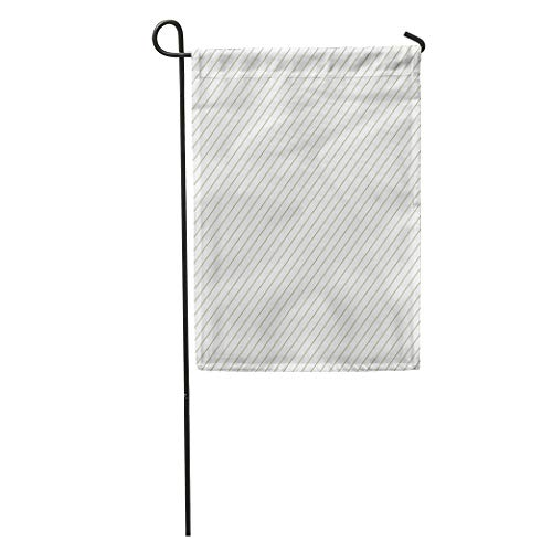 (YhouqukehTshirt Garden Flag Gray Stripe Diagonal Striped Pattern Gold Holiday Abstract Artistic Beautiful Home Yard House Decor Barnner Outdoor Stand 12x18 Inches Flag)